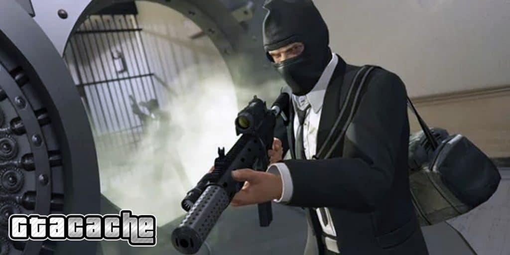 GTA V bank robbery