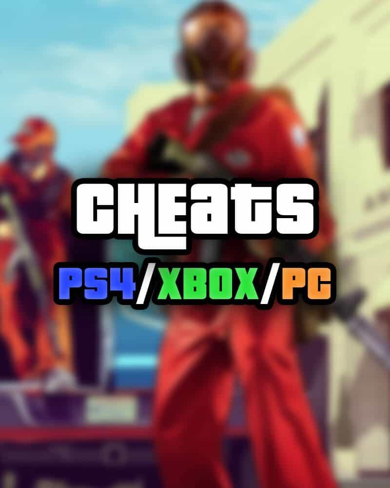 GTA 5 cheats PS4 Xbox PC