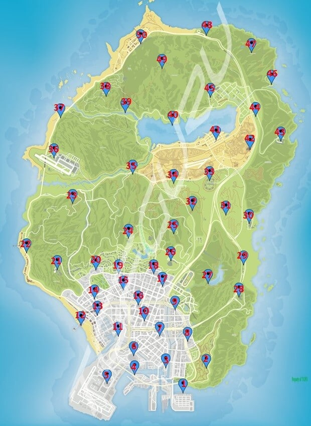 map of all signal jammer locations