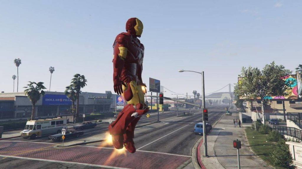 Iron Man mod for GTA 5 gameplay