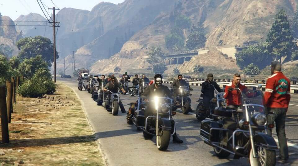 Biker gang motorcycle club