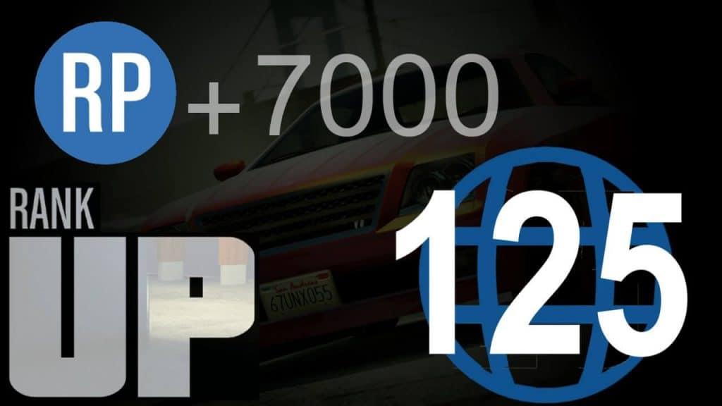 GTA Online RP rank up 7000