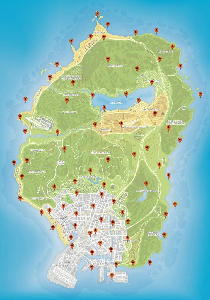 All GTA Online peyote plant locations