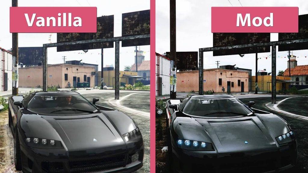 Redux mod graphics comparison