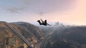fall from sky in gta V