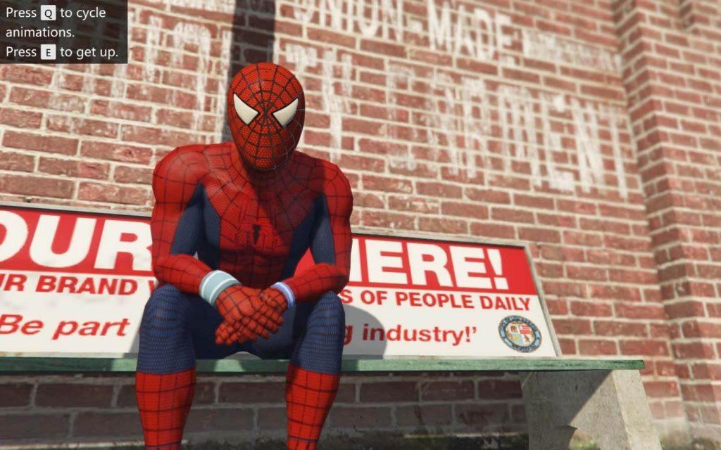 Spiderman gameplay GTA V web wall climbing