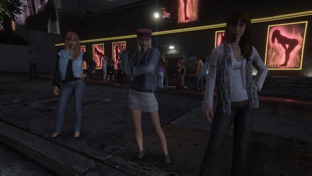 stripper women in Grand Theft Auto V