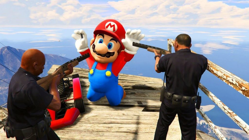 Super Mario Odyssey mod for GTA 5