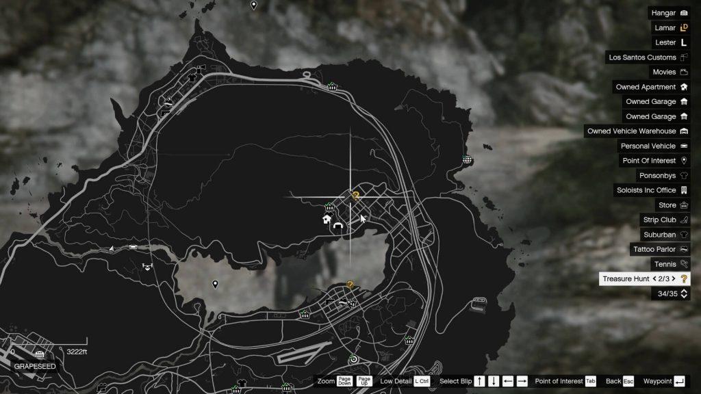 treasure hunt locations on map