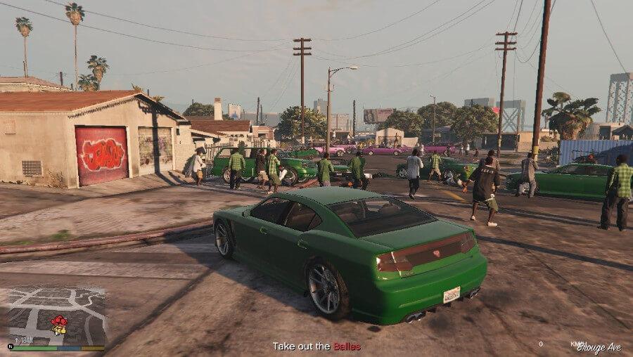 GTA 5 online gang mission.